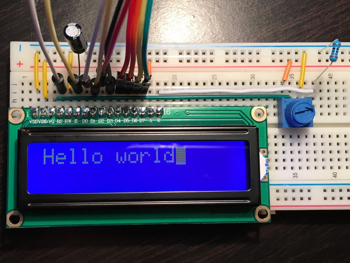 Programming The Hd44780 Lcd Display With Raspberry Pi Module In 4 Bit Mode Wiring Example